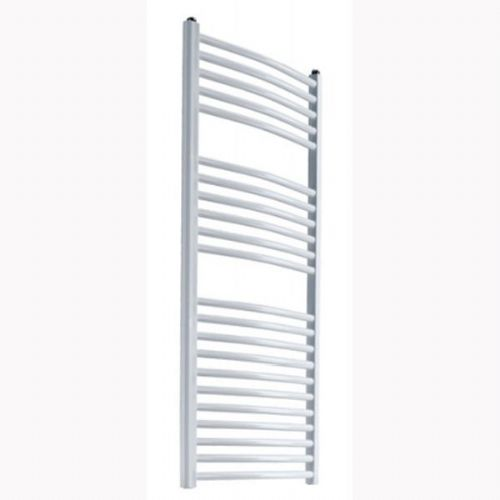 Reina Diva Curved Thermostatic Electric Towel Rail - 1200mm x 500mm - White